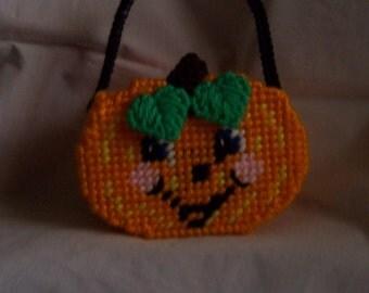 Halloween Pumpkin Treat Basket