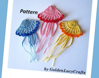 Crochet Jellyfish Pattern Applique