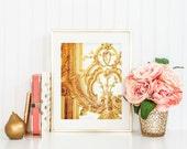 Versailles Gold Rococo. Paris Print. Fine Art Photography. Paris Photography. Marie Antoinette. Gold Decor. Paris Bedroom Décor. Wall Art.