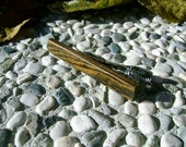 TIE CLIP - Wooden Exotic BOCOTE Wood Handmade Tie Bar