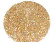 Rainbow Gold SOLVENT RESISTANT HOLOGRAPHIC Glitter 0.015 Hex - 1 Fl. Ounce for Glitter Nail Art, Glitter Nail Polish and Glitter Crafts