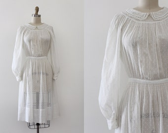 vintage 1930s dress // 30s sheer Edwardian revival dream dress