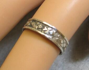 Vintage Sterling Silver Vintage Wedding Band, Size 5, Sterling Band Ring