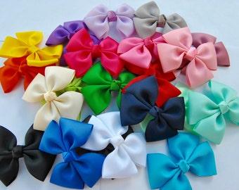 Pinwheel Hair Bows, You choose 5 colors, Medium Hair Bows, Pig Tail Bows, Girls hair bows, 21 colors to choose from