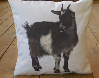 Goat canvas pillow, rustic farmhouse, industrial chic, Farmhouse Pillows, INSERT INCLUDED