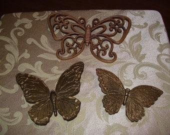 Three Home Interior Butterflies
