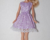 Barbie doll dress  Light purple with lace hem  A4B042