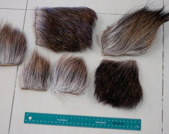 Genuine Moose Hide Sections - Craft, Fly Tying