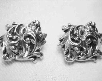 Vintage Whiting & Davis Art Nouveau Earrings