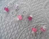"Stitchmarkers for knitting, set of 6, ""Rose"", up to 6 mm needles"