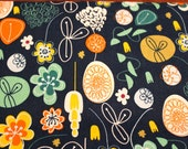 Abstact Floral on Navy Blue for Jo Ann Fabrics/Cotton Quilt Craft Apparel/Fabric by the Yard/Fabric by the Half Yard/Fat Quarter/PRICES Vary