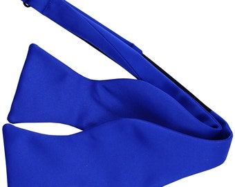 Men's Solid Royal Blue Self-Tie Bowtie, for Formal Occasions