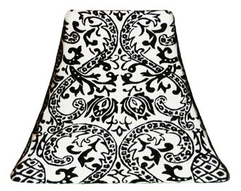 White Damask - SLIP COVERS for lampshades