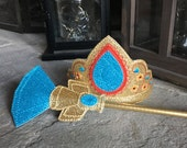 Elena of Avalor inspired Crown and Scepter of Light Set- Glitter and Vinyl Dress Up Accessories