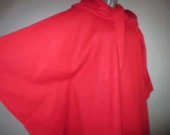 YEOHLEE, BULLOCKS WILSHIRE Wool Hooded Cape //  Laps and Buttons Across Front