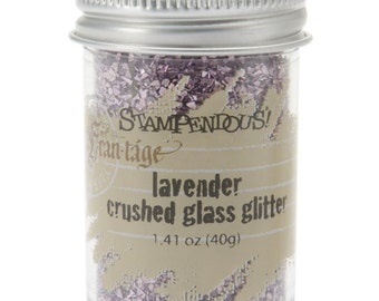 LAVENDER PURPLE Crushed Glass Glitter, Stampendous Frantage, 1.4 oz. jar, for ICE Resin, Scrapbook Embellishment, Mixed Media, cft0039