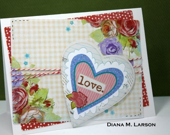 Love ( A2 card, comes with a regular A2 size envelope)