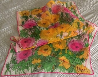 Vera Chiffon Silk Scarf