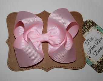Pink hair bow , Light pink hair bow , light pink hairclip , baby pink hair bows , pink bow , hair bow , spring hair bow