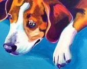 Beagle, Pet Portrait, DawgArt, Dog Art, Pet Portrait Artist, Colorful Pet Portrait, Beagle Art, Pet Portrait Painting, Art Prints