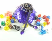 Dungeons & Dragons Dice Bag Purple Scalemaille And Chainmaille Aluminum - TMDB-S-P-02