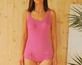 SALE Pink One Piece Swimsuit VINTAGE 60's