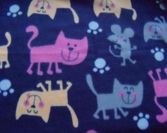 Smiling Cats! Fleece Blanket