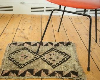 1.5x2 Vintage Oushak Square Rug Mat