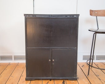 Prohibition Era Antique Hidden Bar Bureau