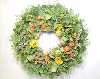 Dried Flower Wreaths, Dried Flowers, Fall Wreaths, Salal Wreath