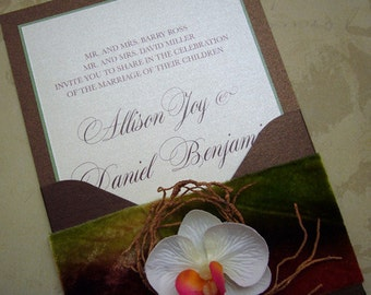 Garden Elegance Wedding Invitation