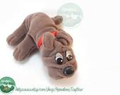 80s Pound Puppy by Tonka: Newborn Brown Pup