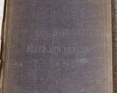 Rare book Sleep & Dreams John Addington Symonds 1851 1st edition
