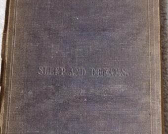 Rare book Sleep & Dreams John Addington Symonds 1851 1st edition