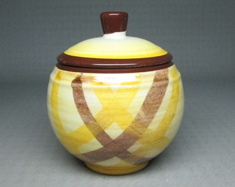 Vernon Kilns ORGANDIE sugar bowl with lid vintage california pottery