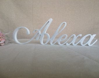 elegant name sign, baby name sign, letters baby name, wooden letters custom sign