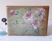 Jewelry French Vintage Jewelry Box -Pink Flower - French vintage Candy Box Romantic Pink Eyelet