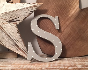 Roman Decorative Wooden Wall Letter 'S' - Any Colour - 8 inch - various colours & finishes