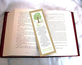 100 Tree Rustic Wedding Bookmarks Favor