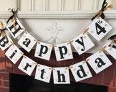 BLACK & GOLD Birthday Banner / gender neutral Birthday Party Decorations / birthday party decor / your color choices