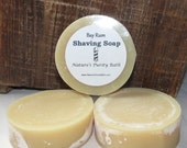 SALE Bay Rum Scented Round Shaving Shave Puck Soap