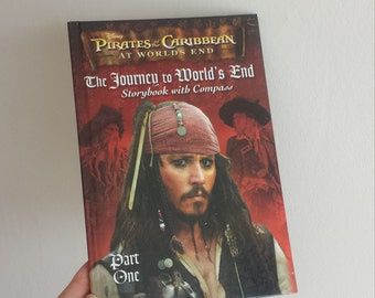 Pirates of the Caribbean Johnny Depp  Notebook - Handmade from a Disney book Jack Sparrow