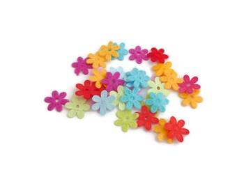 Felt flowers die cut felt shapes Pre cut Felt flower daisy haberdashery fabric flower applique patch
