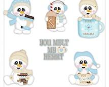 You Melt My Heart Snowman 1 Clipart (Digital Zip Download)