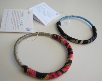 Cloth Bangle Bracelets from Swaziland