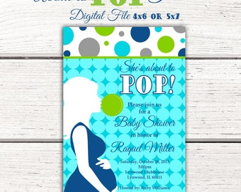 She's About to Pop Baby Shower Invitation. About to Pop Baby Shower Invitation. Ready to Pop Baby Shower. Going To Pop Baby Shower You Print