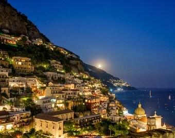 Photograph of Positano at Night