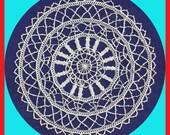 Vintage Elegant French Venise Handmade Crocheted LACE Doily Ecru