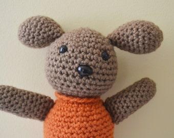 Polly the Puppy Crochet Amigurumi Dog Plush Plushie Stuffed Animal Softie READY TO SHIP