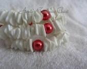 White Pukka and Pearl Wrap Bracelet